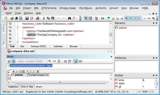 Dan Wahlin - XSLT 2 0, XPath 2 0, XQuery and WSDL Support in